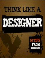 Think like a designer: 10 Tips from designer