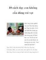 10 cách dạy con không cần dùng roi vọt doc
