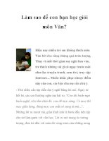 Làm sao để con bạn học giỏi môn Văn? doc