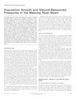 Population Growth and Natural-Resources Pressures in the Mekong River Basin pdf