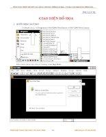 Giáo trình SAP 2000 - Tổng quan về giao diện chương trình SAP 2000 pps