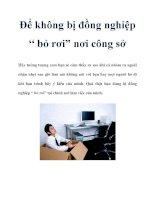 """Để không bị đồng nghiệp """" bỏ rơi"""" nơi công sở pdf"""