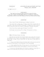 Nghị định Số: 108/2010/NĐ-CP của Chính phủ doc