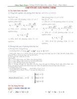 Các dạng toán Đại số cơ bản ôn tập THPT (mới nhất) - Trọng Hiển
