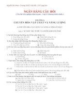 Ngân hàng câu hỏi trắc nghiệm - Sinh học 11- chuuẩn