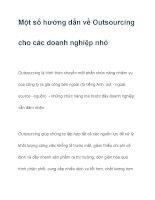 Một số hướng dẫn về Outsourcing docx