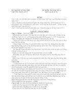 Đề thi học kì II - Lớp 12