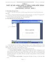 Giáo trình Thiết kế bài giảng điện tử