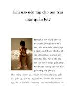Khi nào nên tập cho con trai mặc quần lót? pdf
