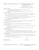 Đề thi HSG Sinh 9 - Vòng 2 (Có đáp án)