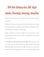 10 lời khuyên để đạt mức luơng mong muốn pptx