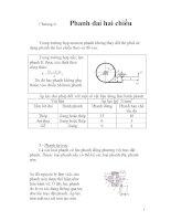 bài giảng môn học máy nâng chuyển, chương 6 ppt