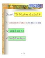 Chương 4: Trao đổi nhiệt đối lưu trong môi trường 1 pha docx