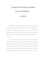 Chapter 030. Disorders of Smell, Taste, and Hearing (Part 8) ppsx