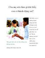 Cha mẹ nên làm gì khi thấy con có hành động sai? pdf