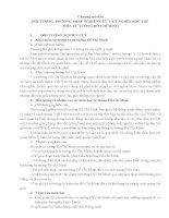 ĐỐI TƯỢNG, PHƯƠNG PHÁP NGHIÊN CỨU VÀ Ý NGHĨA HỌC TẬP MÔN TƯ TƯỞNG HỒ CHÍ MINH docx