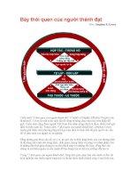 Bảy thói quen của người thành đạt pptx