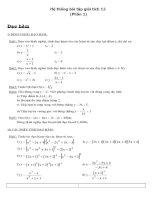 Hệ thống bài tập giải tích 12 (ôn thi ĐH) phần 1