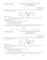 Đề thi học kì II - Tự luân có đáp án