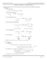 Đề cương ôn TN chương IV Polime và vật liệu polime _Có đáp án