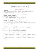 Chuyên đề hàm số lớp 12