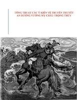 phân tích các ý kiến về truyền thuyết An Dương Vương Mỵ Châu Trọng Thủy