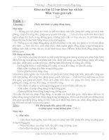 Giáo án lớp 12 ban khoa học xã hội Môn Toán giải tích pdf