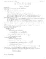Tài liệu hướng dẫn ôn tập và đề cương ôn tập toán 9 học kì 2