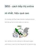SEO - cách tiếp thị online rẻ nhất, hiệu quả cao pptx