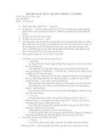 BÀI THU HOẠCH THỰC TẬP GIÁO TRÌNH II - LƯỚI KÉO docx