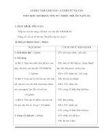 Giáo án Tiếng Việt 3 - LUYỆN TẬP LÀM VĂN – LUYỆN TỪ VÀ CÂU VIẾT ĐƠN docx