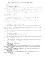 Ngân hàng câu hỏi ôn thi TN ( hay )