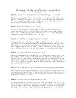 10 bí quyết để xây dựng lòng tự trọng của bạn ppsx