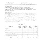 Đề Kiểm tra Học kỳ II môn Vật Lý khối 8