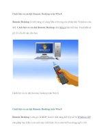 Cách bật và cài đặt Remote Desktop trên Win 8