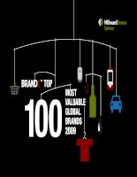 Top 100 Most Valuable Global Brands ranking in 2009