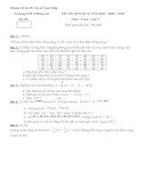 đề thi bán kì II toán 7