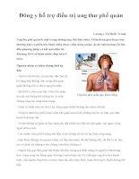 Đông y hỗ trợ điều trị ung thư phế quản potx