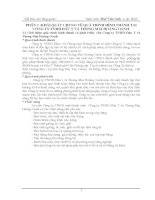 Báo cáo tổng quan QUÁ TRÌNH HÌNH THÀNH tại CÔNG TY TNHH đầu tư và THƯƠNG mại HOÀNG OANH