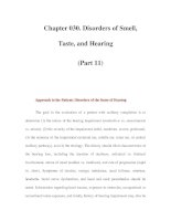 Chapter 030. Disorders of Smell, Taste, and Hearing (Part 11) ppsx