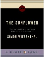on the possibilities and limits of forgivenes - simon wiesenthal
