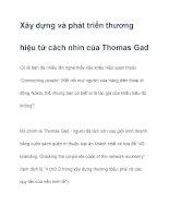 Xây dựng và phát triển thương hiệu từ cách nhìn của Thomas Gad pdf
