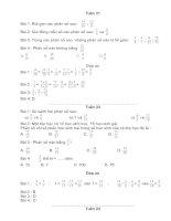 Đề toán lớp 4 từ tuần 21 - 35