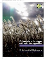 Climate change and soil science pps