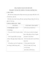 Giáo án Tiếng Việt 3 - HOẠT ĐỘNG NGOÀI GIỜ LÊN LỚP - TÌM HIỂU VỀ TRUYỀN THỐNG VĂN HOÁ QUÊ HƯƠNG ppt