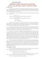SKKN giải toán bằng cách lập phương trình hệ phương trình