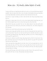 Kim cúc - Vị thuốc chữa bệnh về mắt docx