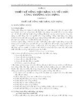 Giáo trình Thiết kế tổng mặt bằng xây dựng pdf