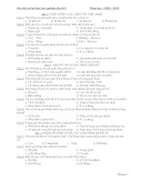 câu hỏi và bài tập trắc nghiệm địa lý 9