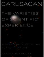 carl sagan - the varieties of scientific experience--a personal view of the search for god